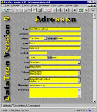 Screenshot für Datatron - Freeware